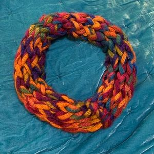 Hand woven chunky scarf